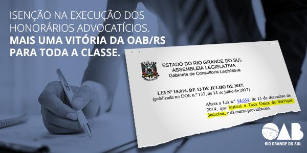 Vitória da OAB/RS para toda a classe.