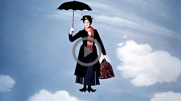 Mary Poppins em filme de 1964