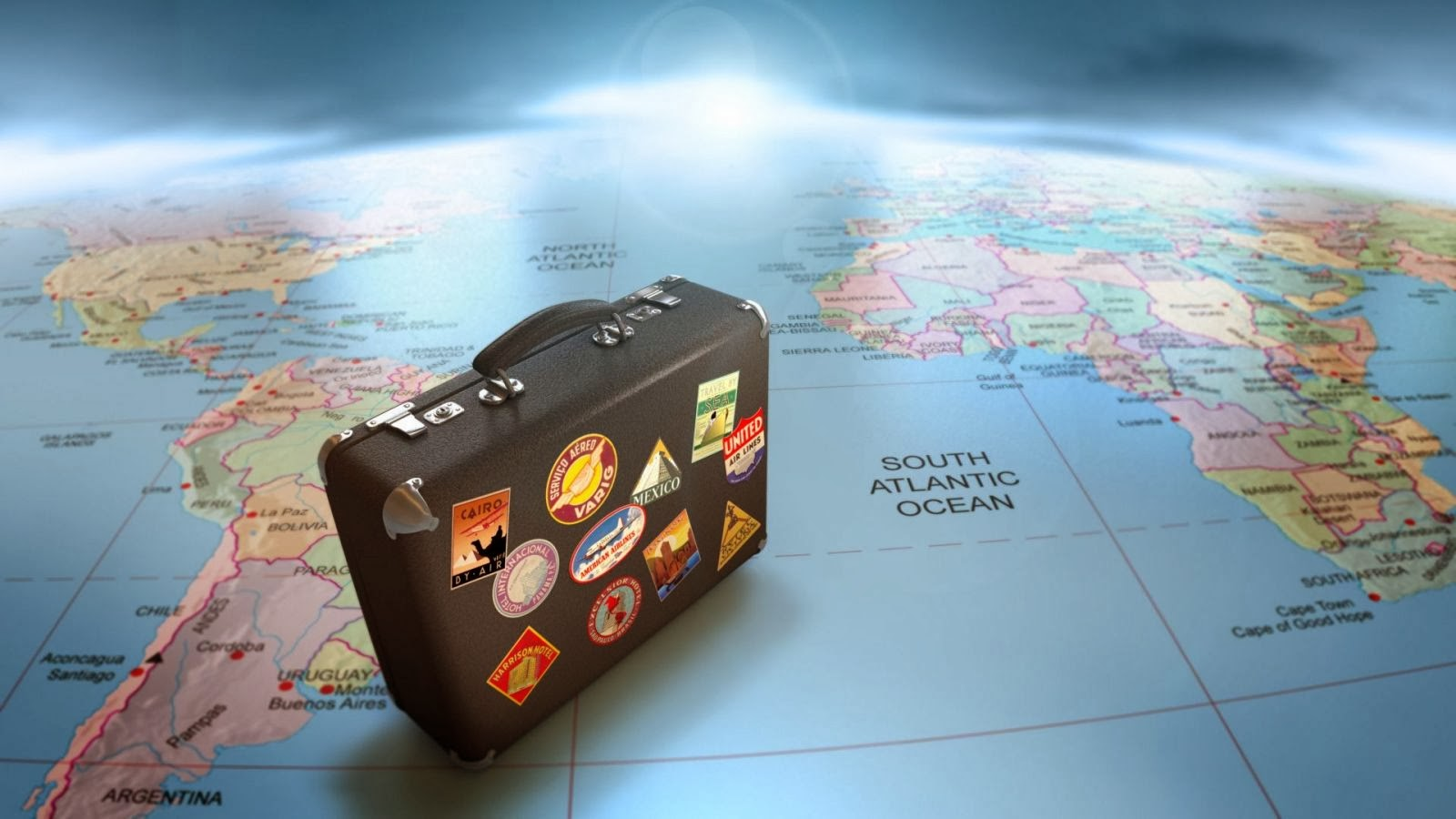 icone pacote de viagem