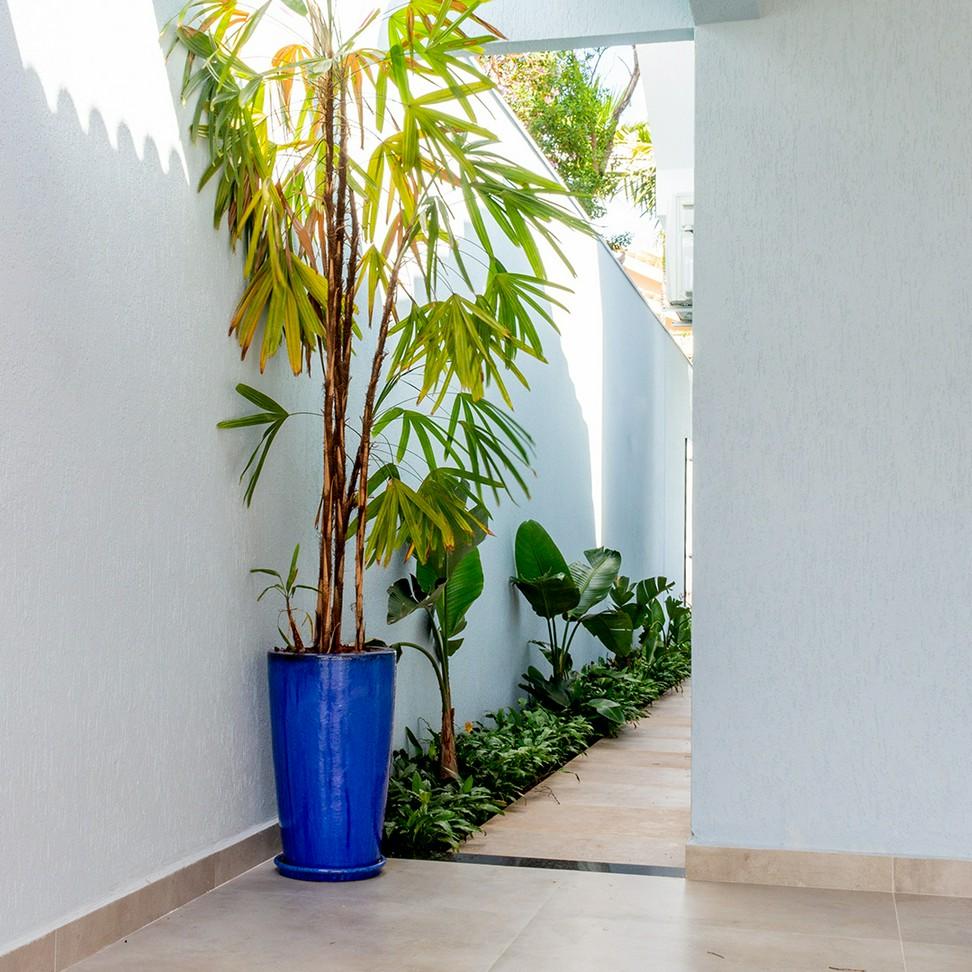Vaso Vietnamita Cone Alto Azul