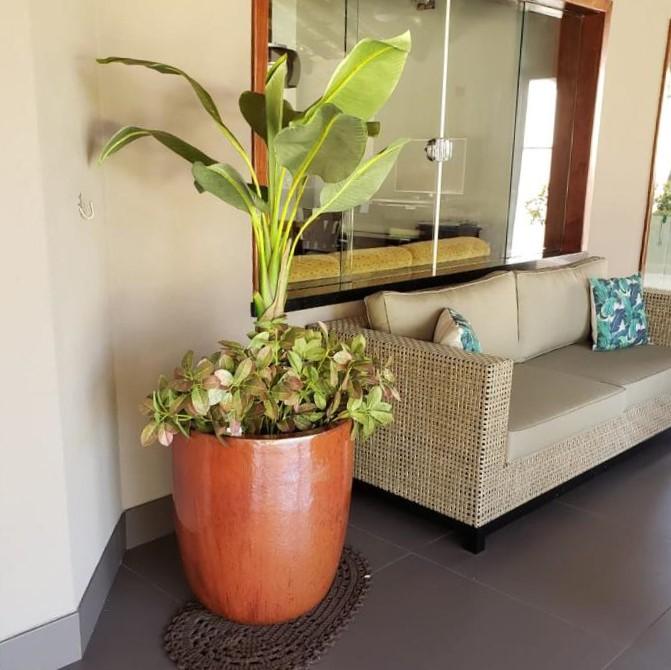 Vaso Vietnamita U Planter Cobre