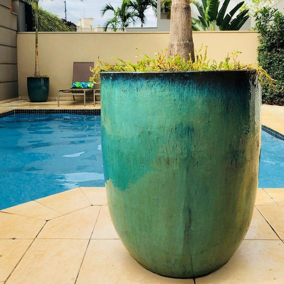 Vaso Vietnamita U Planter Aqua